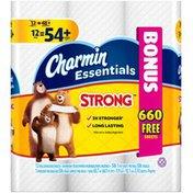 Charmin Essentials Strong Charmin Essentials Strong Toilet Paper 12 Mega Bonus Rolls Toilet Tissue