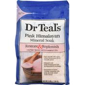 Dr. Teal's Mineral Soak, Pink Himalayan, Restore & Replenish
