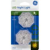 GE Night Light, LED, 2 Pack