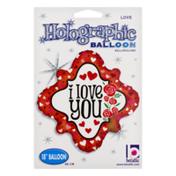 Betallic Holographic Balloon I Love You