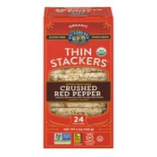 Lundberg Family Farms Thin Stackers Organic Crushed Red Pepper Puffed Grain Cake