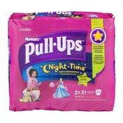 Huggies Pull-Ups Disney PrincessTraining Pants Night Time Glow In The Dark Size 2T-3T - 24 CT