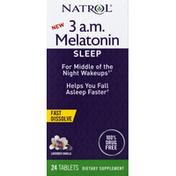 Natrol 3 AM Melatonin, Lavender Vanilla, Sleep, Tablets