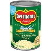 Del Monte White Shoepeg Corn, Whole Kernel Sweet, Sea Salt