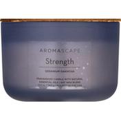 Aromascape Candle, Geranium Oakmoss, Strength