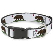 "Buckle-Down Pbkl 1"" Large White California Dog Collar"