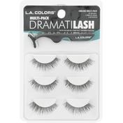 L.A. Colors False Eyelash Kit, Dramatilash, Multi-Pack CBEL952