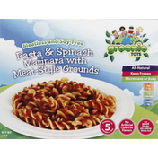 Greenie Tots Pasta & Spinach Marinara, with Meat-Style Grounds