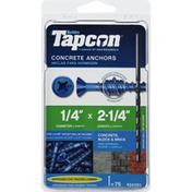 Tapcon Concrete Anchors, Block & Brick