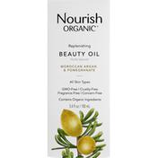 Nourish Organic Beauty Oil, Moroccan Argan & Pomegranate, Replenishing