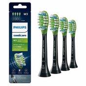 Philips Sonicare Premium White replacement toothbrush heads, HX9064/95, BrushSync technology, Black