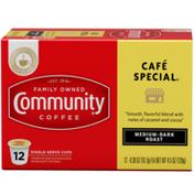 Community Coffee Cafe Special Medium-Dark Roast, K-Cup Pods