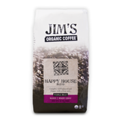 Jim's Organic Coffee Happy House Blend, Light Roast, Whole Bean Coffee
