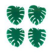 Blush Lush Monstera Leaf Coasters