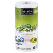 Essential Everyday Paper Towels, Mighty Absorbent, Big Roll, Multi-Size, Two-Ply
