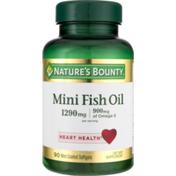 Nature's Bounty Fish Oil, Mini, 1290 mg, Coated Softgels