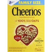 Cheerios Cereal, Toasted Whole Grain Oat, Family Size