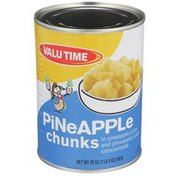 Valu Time Pineapple Chunks In Pineapple Juice