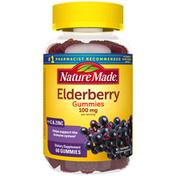 Nature Made Elderberry 100mg with Vitamin C & Zinc Gummies - Raspberry