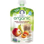 Gerber Organic 2 Nd Foods Organic Apples Pears & Apricots with Mixed Grains Baby Food
