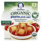 Gerber Pasta Pick-Ups, Toddler, Organic, Cheese Ravioli in Tomato Sauce, Tub