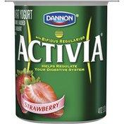 Activia Peach & Strawberry Activia Lowfat Yogurt