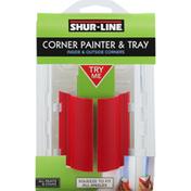 Shur-Line Corner Painter & Tray, Inside & Outside