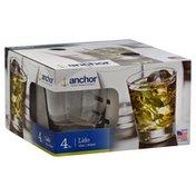 Anchor Glass, Lido, 4pc, 12oz, Box