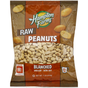 Hampton Farms Peanuts, Raw, Blanched