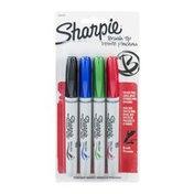Sharpie Brush Tip Permanent Marker - 4 CT