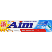 AIM Toothpaste, Anticavity Fluoride, Cavity Protection, Ultra Mint, Gel, Value Pack