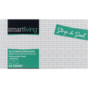 Smart Living Envelopes, No. 6.75, White, Strip & Seal