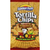Golden Fluff Tortilla Chips, Whole Grain Yellow Corn