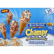 Blue Bunny Mini Cones, Mini Swirls, Birthday Party