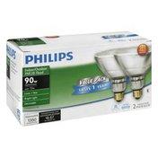 Philips Light Bulbs, Halogen, Indoor/Outdoor Flood, 72 Watts, Value Pack