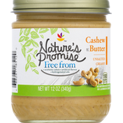 Nature's Promise Cashew Butter, Unsalted, Creamy