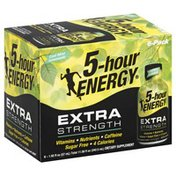 5-Hour Energy Extra Strength, Cool Mint Lemonade, 6 Pack