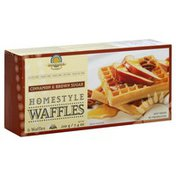 Kinnikinnick Foods Waffles, Homestyle, Cinnamon & Brown Sugar