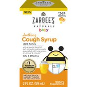 Zarbee's Naturals Baby Soothing Cough Syrup with Dark Honey, Natural Peach & Honey Flavor