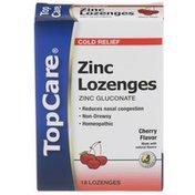 TopCare Zinc Lozenges Cold Relief, Cherry