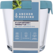 Anchor Hocking Container + Trueseal Lid, Mineral Blue