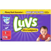 Luvs Ultra Leakguards Newborn Diapers Size 1 174 count  Diapers