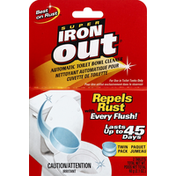 Iron Out Toilet Bowl Cleaner, Automatic, Twin Pack