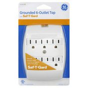 GE Tap, Grounded, with Saf-T-Gard, 6-Outlet