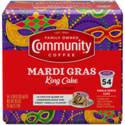 Community Coffee Mardi Gras King Cake Coffee Pods for Keurig K-cups