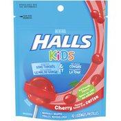 Halls Kids Cherry Menthol Sore Throat & Cough Lozenges
