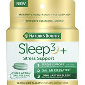 Nature's Bounty Sleep 3+, Stress Support, Tri-Layer Tablets