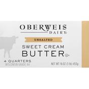 Oberweis Dairy Butter, Sweet Cream, Unsalted