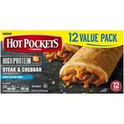 Hot Pockets High Protein Steak & Cheddar Crispy Buttery Crust Frozen Snacks