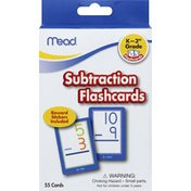 Mead Flashcards, Subtraction
